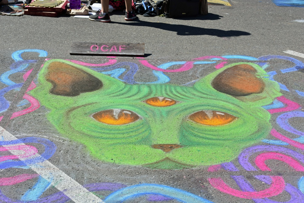 Completed artwork at the Orcutt Children's Arts Foundation Chalk Festival.
