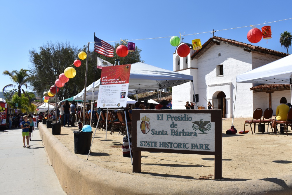The Santa Barbara Trust for Historic Preservation hosted the eighth annual Asian American Neighborhood Festival, an outdoor event celebrating Asian American heritage, on Sunday at El Presidio de Santa Bárbara State Historic Park.