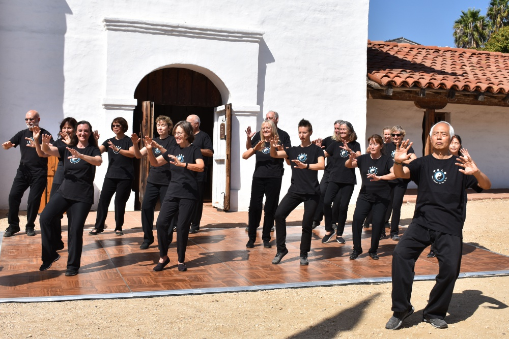 Sunday's eighth annual Asian American Neighborhood Festival at El Presidio de Santa Bárbara State Historic Park featured a demonstration by the Santa Barbara Wu-Hao Tai Ji Association, led by Chao Pang.