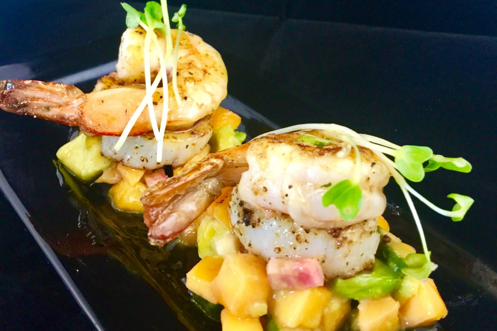 The scallop and shrimp tower is just one of many delicious options on the menu at Mattie's Bar & Eatery in Pismo Beach.