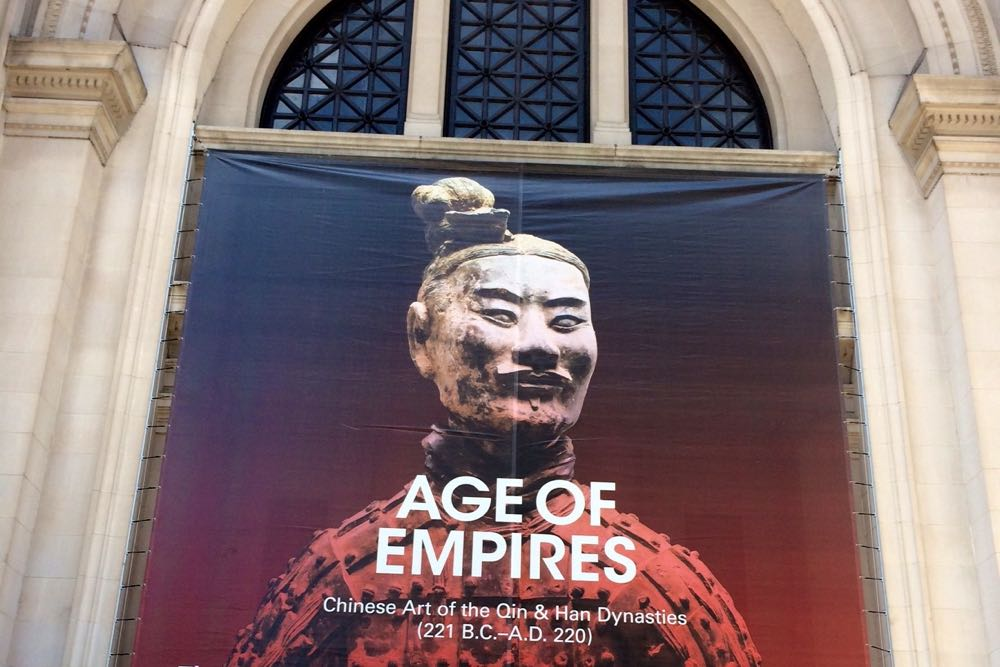 The Age of Empires is a popular exhibit at The Metropolitan Museum of Art in New York City.