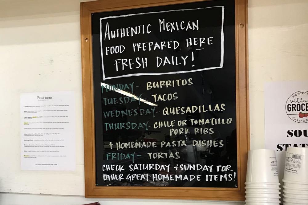 Folksy chalkboards keep customers abreast of fresh choices.