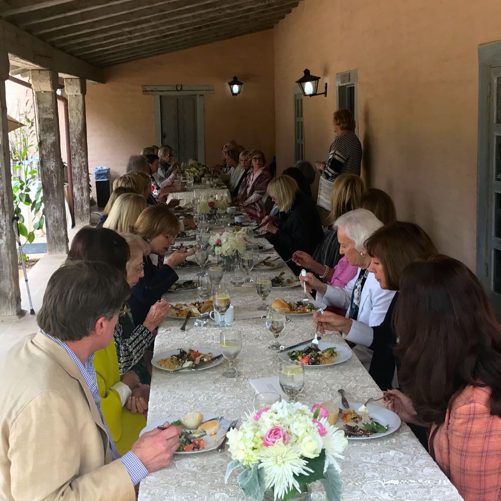 More than 40 guests attended a special luncheon and lecture at the Covarrubias Adobe at the Santa Barbara Historical Museum.
