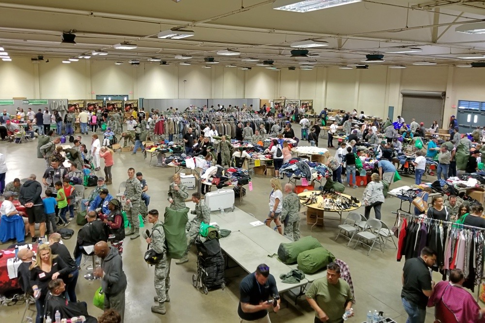 Santa Maria Fairpark was filled with free, donated goods and services for veterans, including medical and dental care.