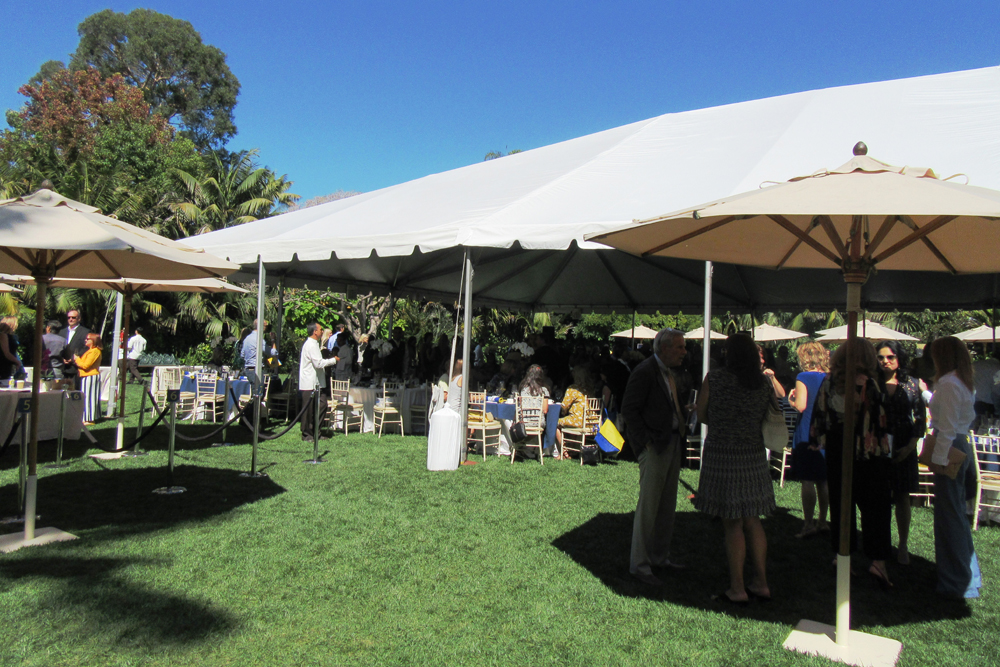 More than 400 guests attend the luncheon under tents behind the Four Seasons Resort The Biltmore Santa Barbara.