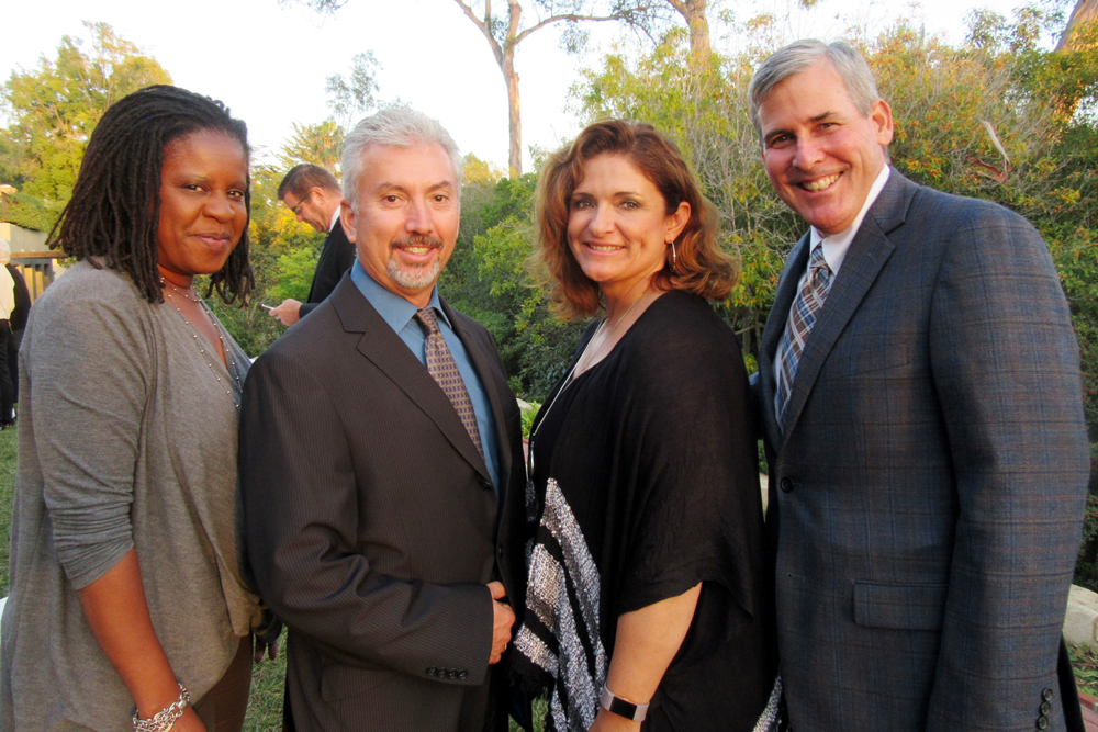 From left, Housing Authority of the City of Santa Barbara representatives Tonie Hood, Frank Quezada, Veronica Loza and Executive Director Rob Fredericks.