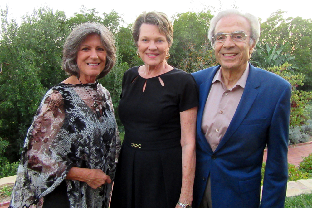Sandy DeRousse, left, with Barbara and Sam Toumayan.
