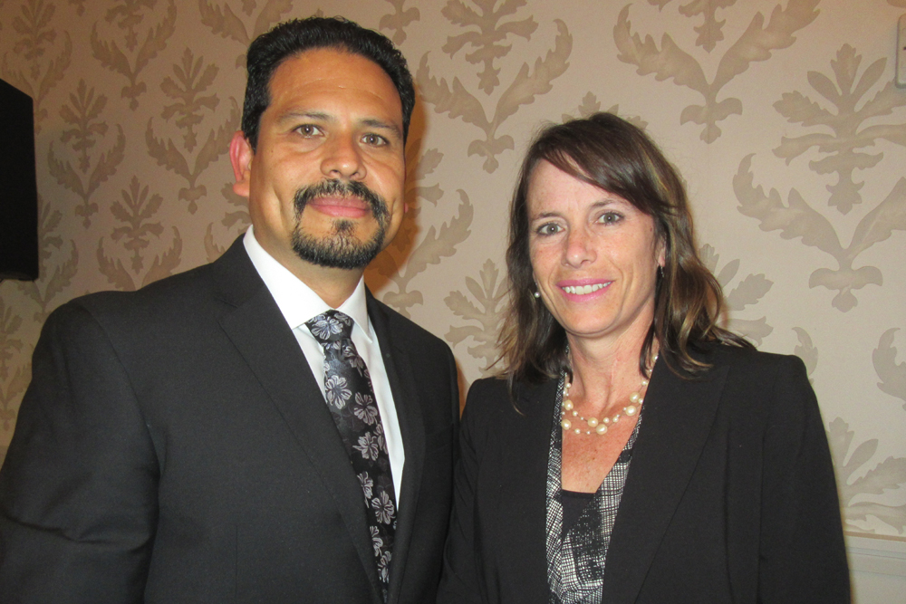 Sal Robledo, left, Cottage Health's director of population health with Katy Bazylewicz, vice president of marketing and population health.