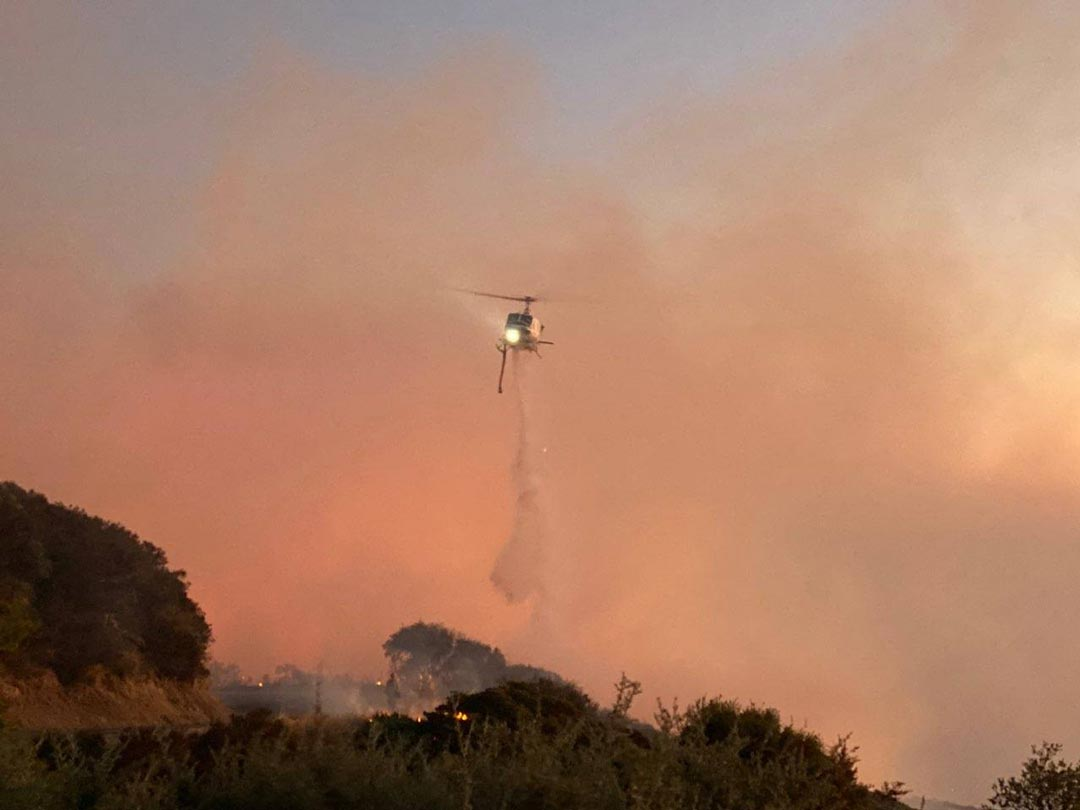 Cave Fire sparks evacuations for foothills above Goleta