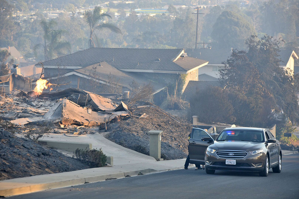 A home destroyed by the Thomas Fire.