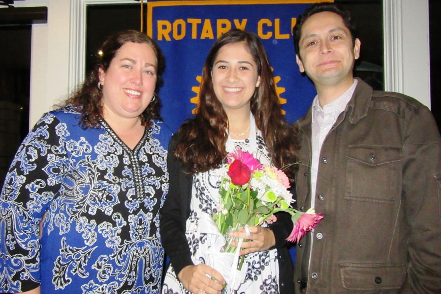 Goleta Teen of the Year Layla Landeros with her parents, Wendy and Jose Landeros.