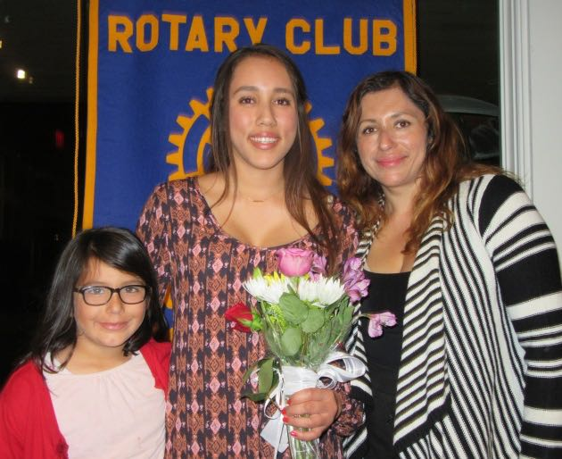 Dos Pueblos High School senior Cindy Diaz, with mom Cintya and sister Sofia, was named Goleta Teen of the Year runner-up.