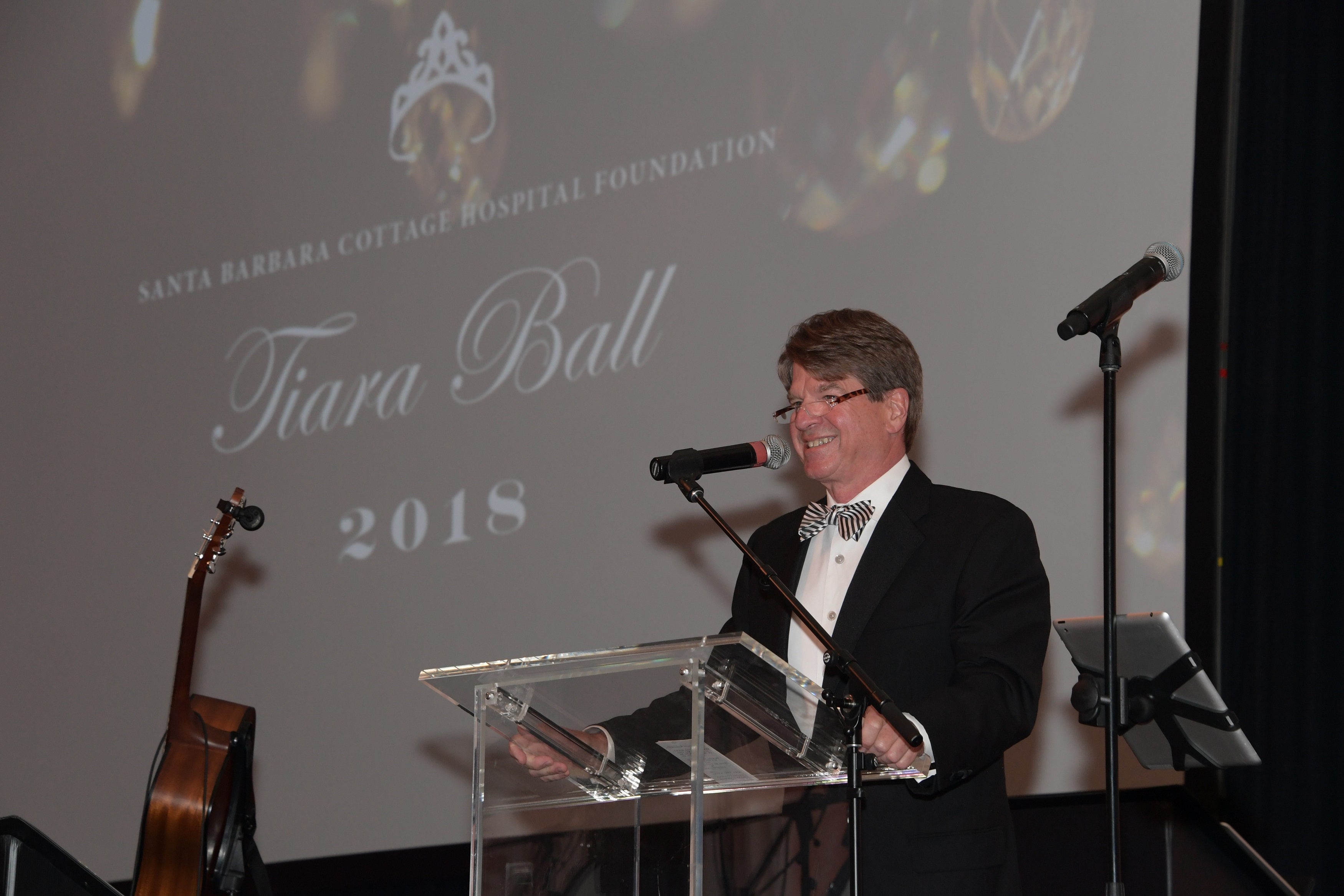 Cottage Health Board Chair Steven Ainsley speaks during the Tiara Ball.