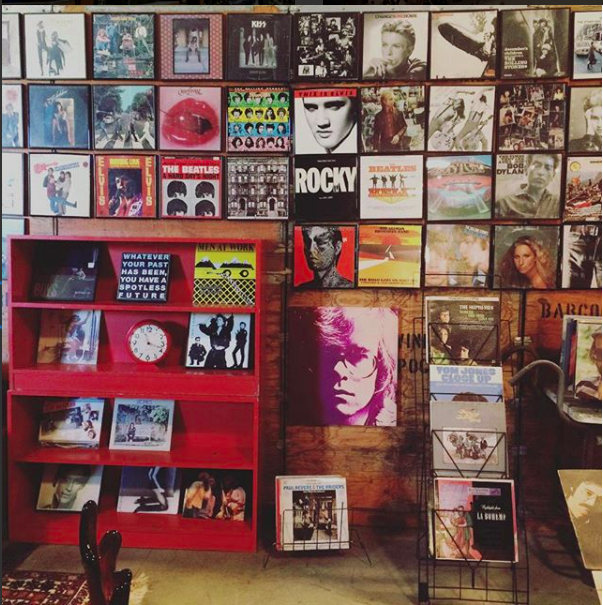 The Soulstruck Lounge includes a collection of vintage vinyl.