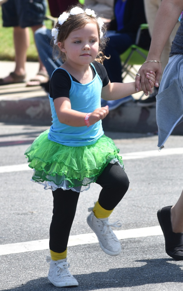 Dancers of all ages from The Alley Project walked and performed along the route in the Lompoc Valley Flower Festival Parade on Saturday.