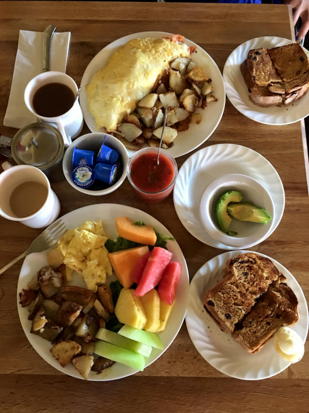 The Country Touch Café will start your day off with a fantastic, hearty breakfast but don't forget the delicious applesauce. (Donna Polizzi photo)