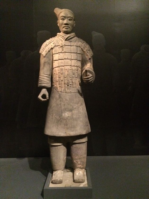 The Metropolitan Museum of Art features terracotta soldiers unearthed in China from the reign of Emperor Qin.