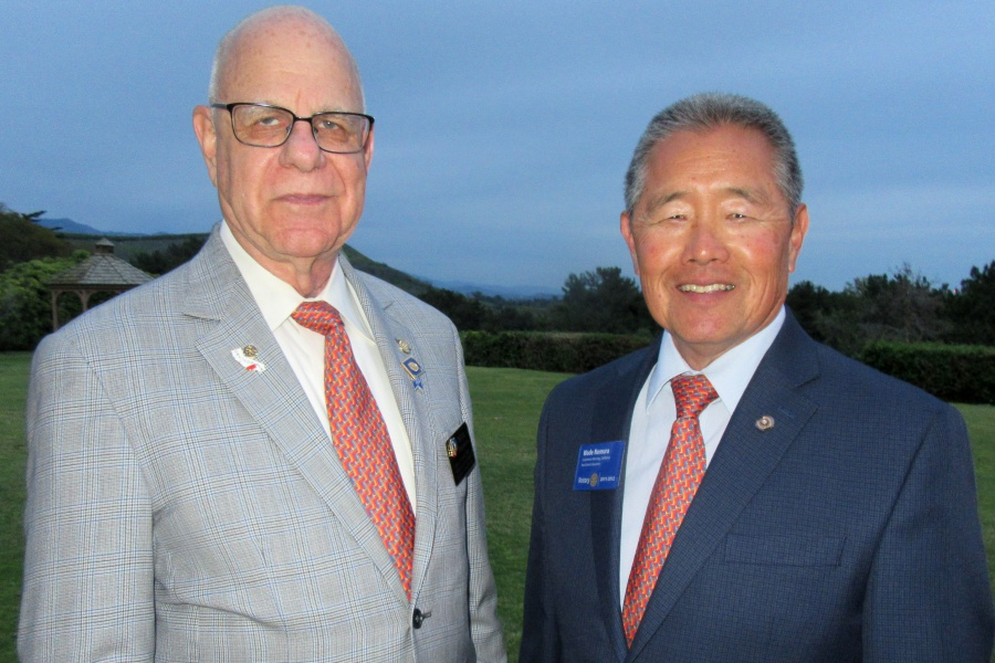 Rotary District governor Nick Frankle, left, and Carpinteria City Councilman Wade Nomura, a former Rotary District governor.