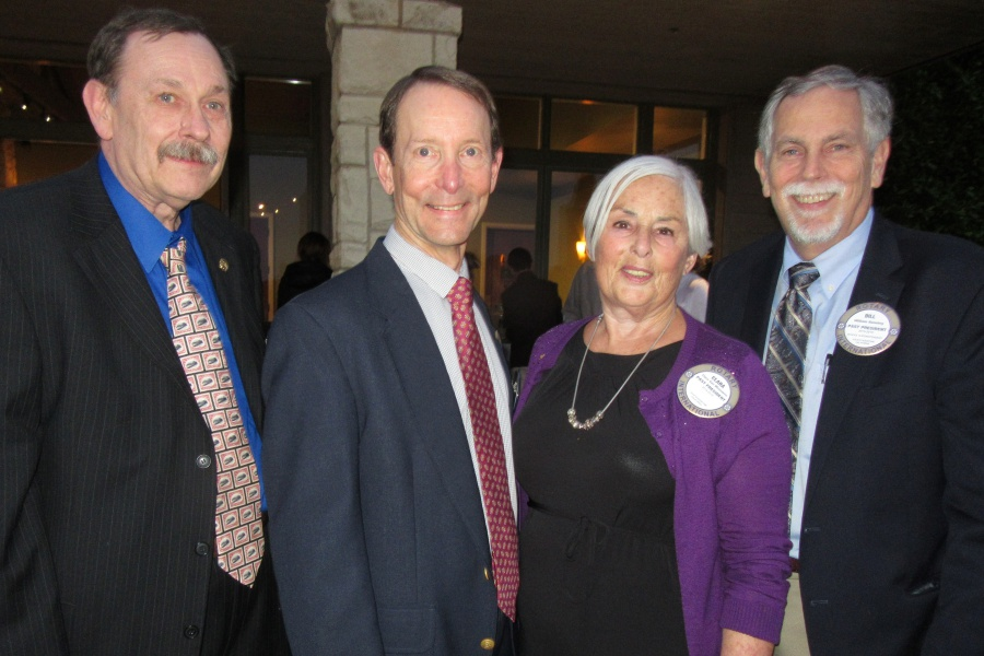 From left, Rotary Club of Goleta Noontime members Michael Gartze, David Gore, Clara van Meeuwen and Bill Banning.