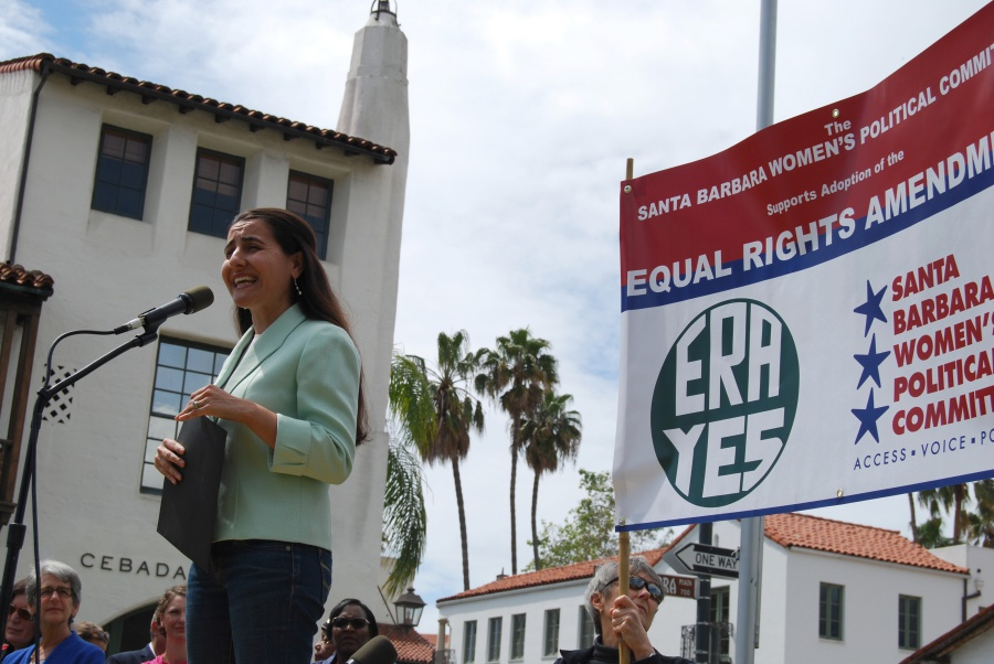 "Assemblywoman Monique Limón, D-Santa Barbara, called California ""the light of the nation"" but warned that without the Equal Rights Amendment there is no guarantee that ""every woman has the ability to pursue goals and dreams."""