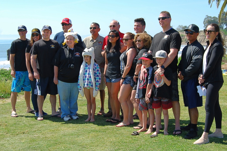 Members of the Santa Barbara County Deputy Sheriffs' Association pose for a team photo before taking the Polar Plunge.