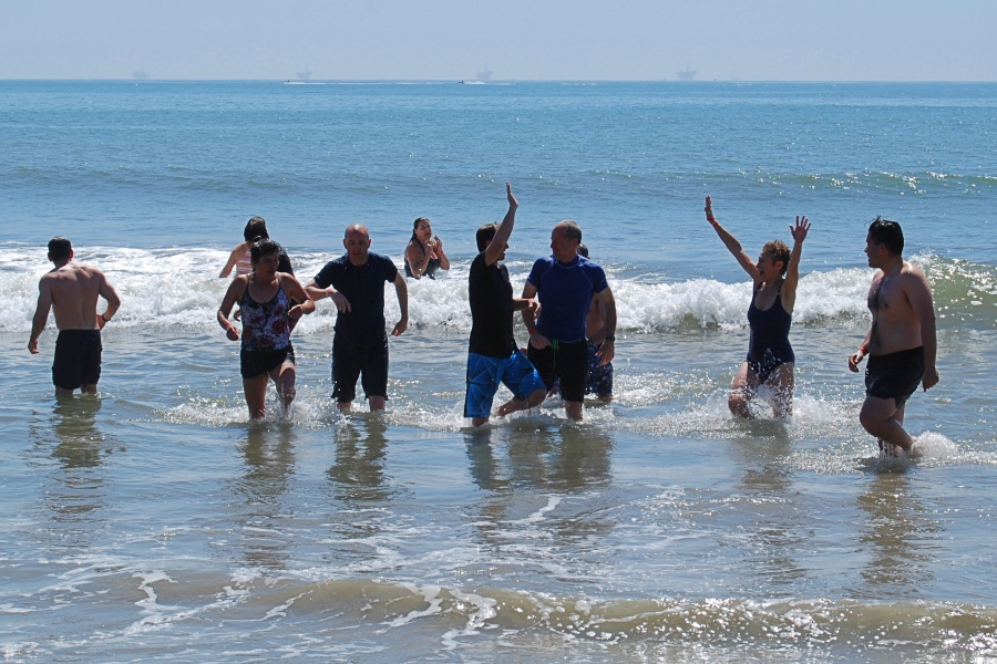 Santa Barbara County District Attorney Joyce Dudley and her team raised $750 with their Polar Plunge.