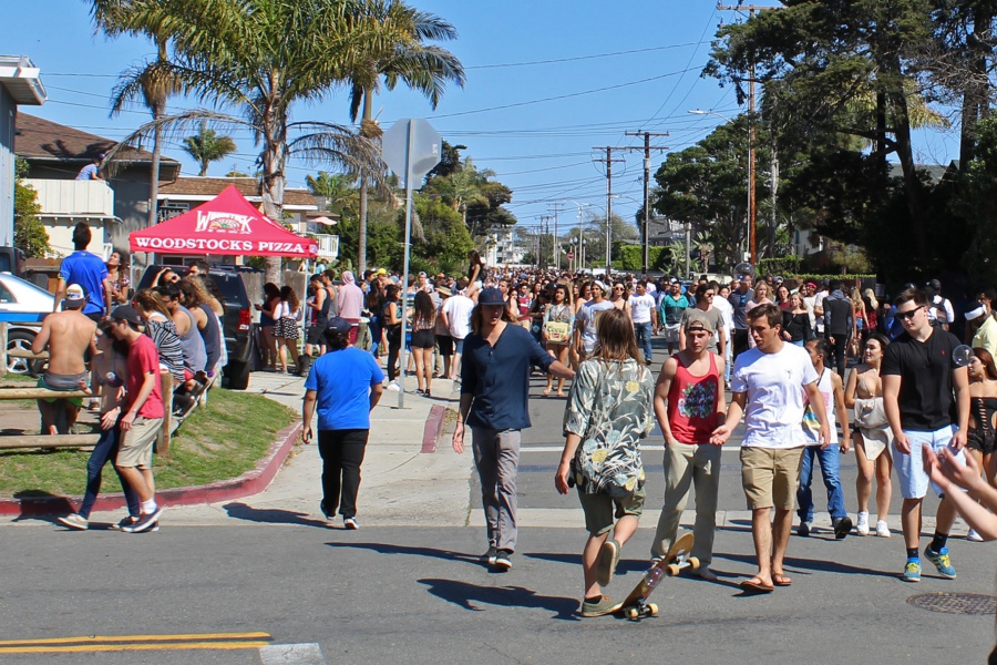 To the relief of authorities and many residents, Saturday's Deltopia street party in Isla Vista was mostly a low-key affair. The Santa Barbara County Sheriff's Department estimated a crowd size of between 3,000 and 5,000 revelers and reported a handful of arrests and citations.