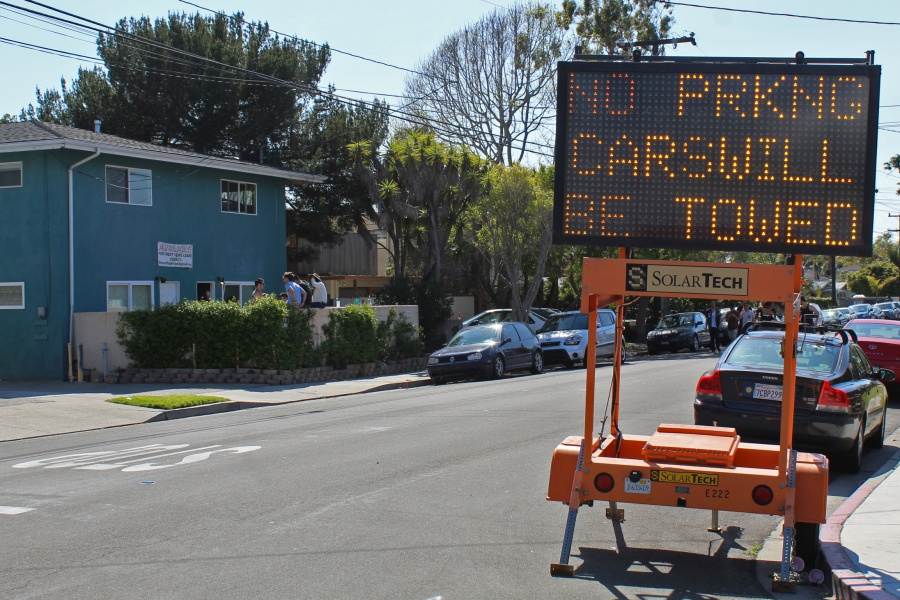 To help keep Isla Vista local for the Deltopia weekend, authorities restricted traffic and parking in and around the neighborhood.