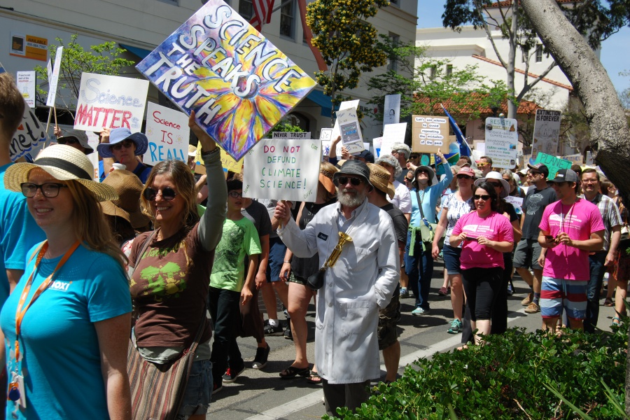 Thousands of demonstrators took to the streets during Santa Barbara's March for Science on Saturday.