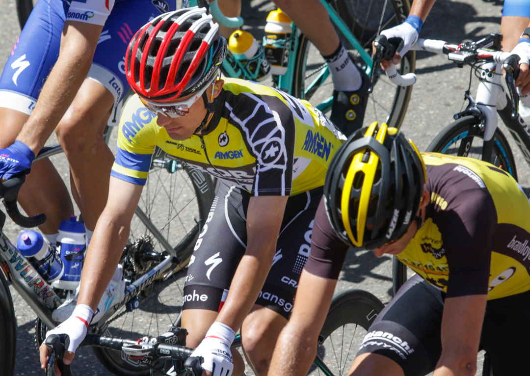 Rafal Majka wears the yellow Amgen leader's jersey. Stage 3 of the 12th annual Amgen Tour of California started Tuesday in Pismo Beach looping almost 120 miles through San Luis Obispo and Santa Barbara Counties with a finish in Morro Bay.