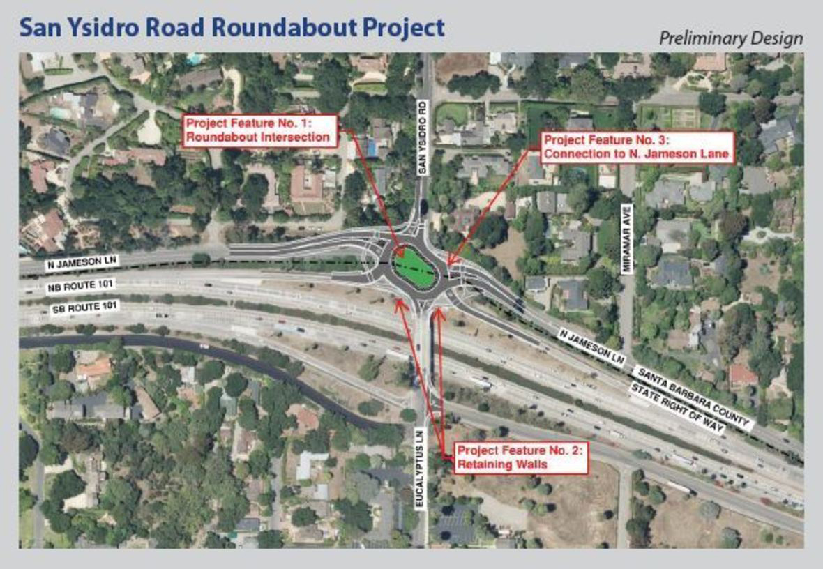 With 2 Montecito Roundabouts on the Way, Officials Hold Open