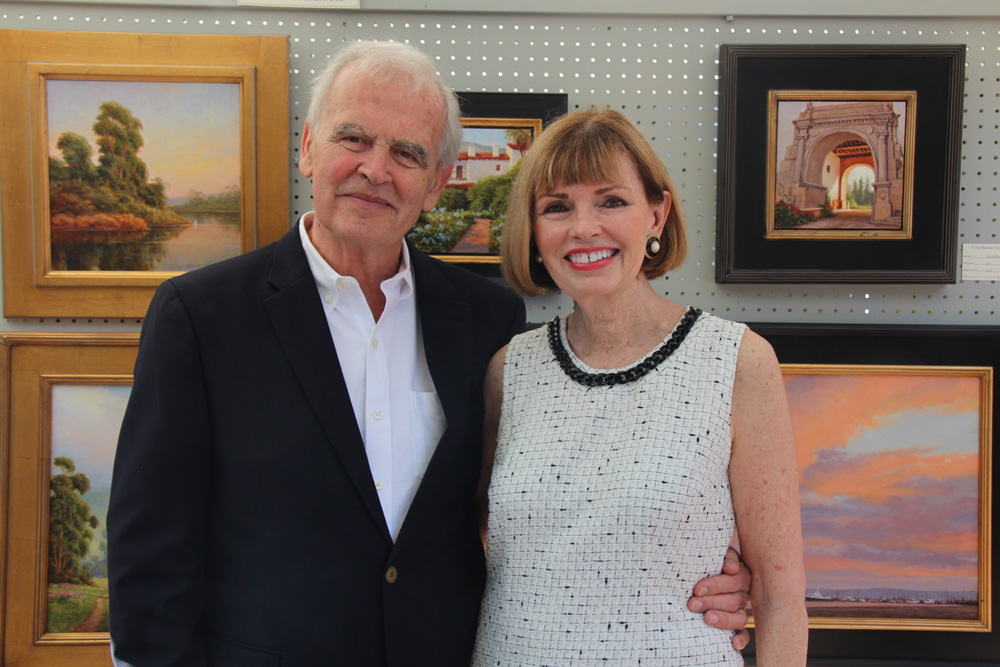 Artist Ralph Waterhouse with wife Diane.