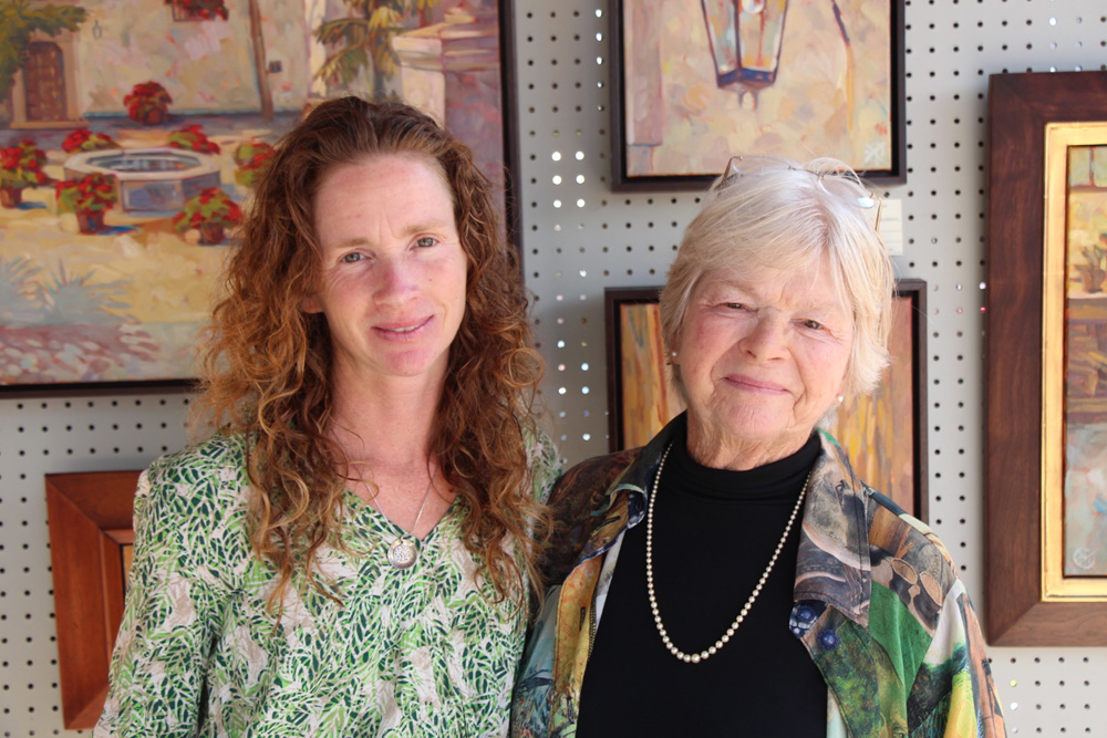 Mother and daughter artists Meredith Brooks Abbott and Whitney Abbott.