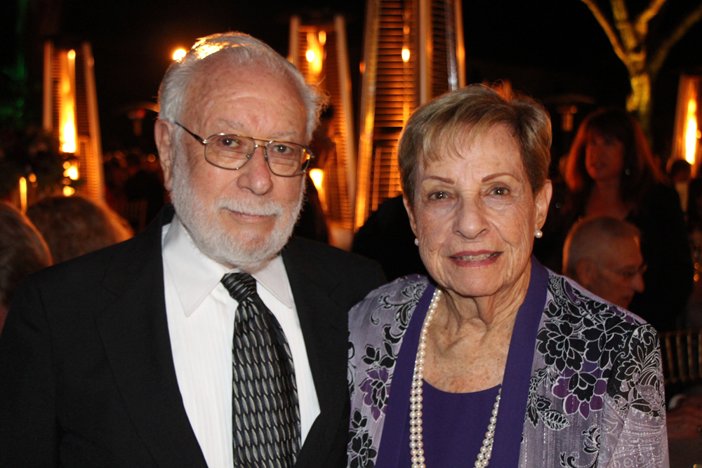 Key to Success award recipients Seymour and Shirley Lehrer. The couple, Mozart sponsors, were honored for their continued leadership, vision and valued contributions to the Music Academy.
