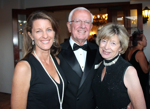 Yvette Giller, left, with Ed and Sue Birch of the Moser Foundation.