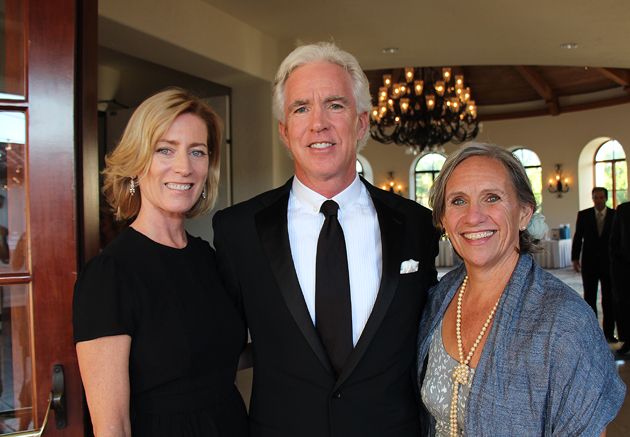 Elizabeth Slaught, left, with husband and honoree Kenny Slaught and Terri Allison, Storyteller's Children Center executive director.