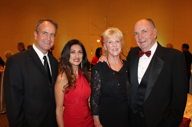 Mark and Sheela Hunt, left, with Gerd and Peter Jordano.