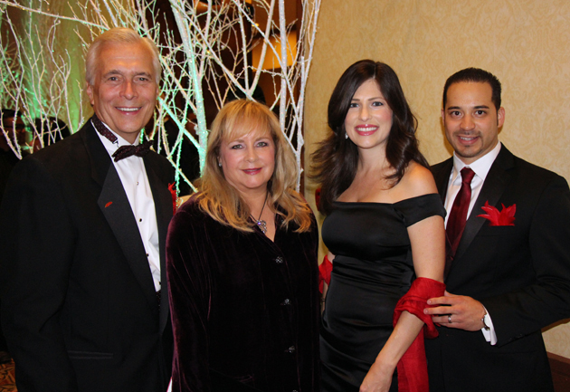 United Way of Santa Barbara County President/CEO Paul Didier, left, with wife Bobbi, and Amber and Steve Ortiz, United Way's director of development and marketing.