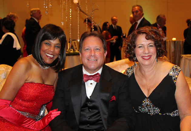 Dee Dee Barrett, left, with CADA President/CEO Ed Stonefelt and his wife, Sally.