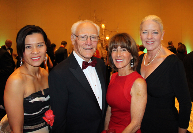 Santa Barbara Symphony board president Paksy Plackis-Cheng, left, with Michael and Anne Towbes, 2004 and 2013 Abercrombie Community Excellence Award honorees, and Janet Garufis, president and CEO of Montecito Bank and Trust.