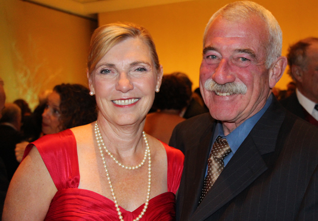 Visiting Nurse and Hospice Care President/CEO Lynda Tanner with husband Steve.