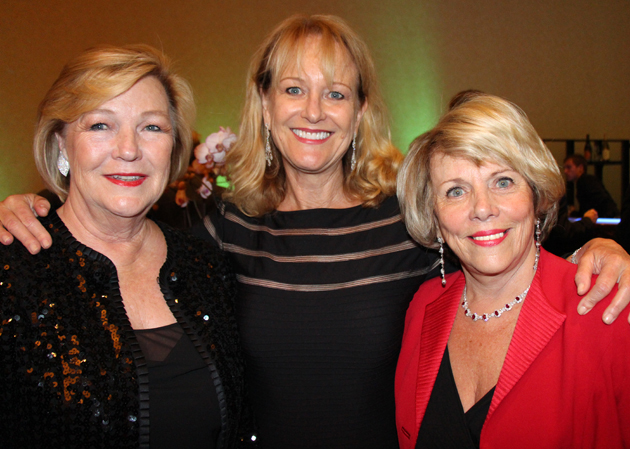 United Way of Santa Barbara County gift planning services officer Judy Goodbody, left, with Perri Harcourt and Penny Jenkins.