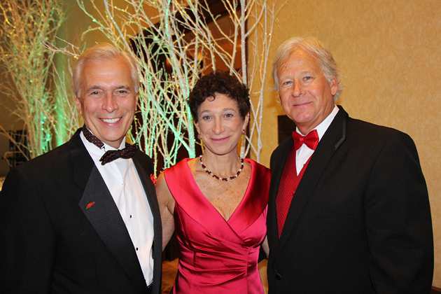 United Way of Santa Barbara County President/CEO Paul Didier, left, with Santa Barbara County District Attorney Joyce Dudley and Randy Weiss of Union Bank.