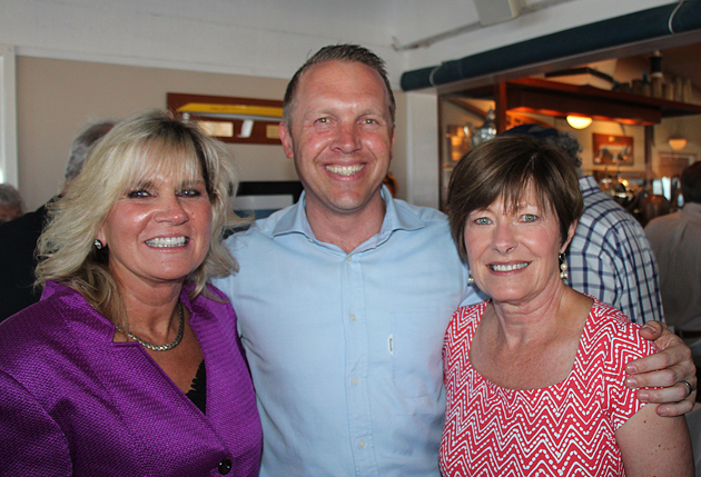 Joanne Funari, left, Jason Wilson and Kathy O'Dell with the Bank of Santa Barbara.