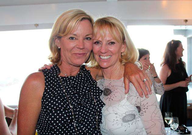 Francie Lufkin, 2013 Santa Barbara Yacht Club commodore, with Sue Parker.