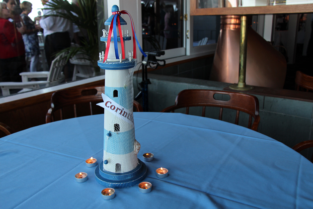A festive lighthouse pays tribute to the network of yacht clubs across North America benefiting the National Hospice Alliance, which has raised more than $16 million for its hospice organizations.