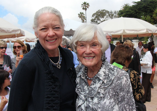 Janet Garufis, left, president and CEO of Montecito Bank & Trust, with Maryan Schall.