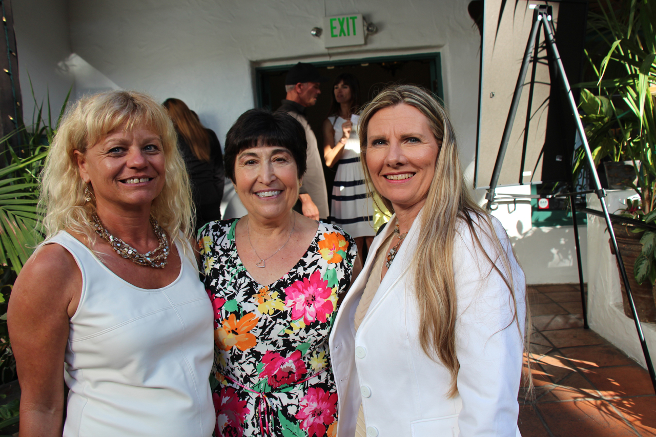 Manuela Williams of CIYMCA, Karine Anderson of the Santa Barbara Family YMCA and Tracy Bear of the Stuart C. Gildred Family YMCA.
